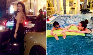 Sao Việt 21/4: Huyền Baby thả dáng bên siêu xe, Hà Hồ khoe tư gia hoành tráng
