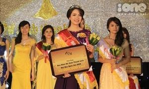 Nữ sinh đẹp nhất trường Tự nhiên đăng quang Hoa khôi ĐH Quốc gia Hà Nội