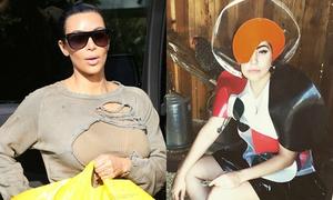 Sao US-UK 2/5: Kim Kardashian ăn mặc rách rưới, Lady Gaga tạo dáng siêu độc