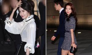 Yoon Ah tay gân guốc, Park Shin Hye lộ chân to trong sự kiện lớn