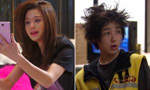 Tóc 'tổ quạ' hài hước của mỹ nhân Hàn trong phim