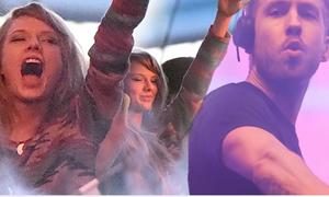 Taylor Swift vô tư la hét trong show diễn của bạn trai DJ