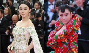 Phạm Băng Băng lộng lẫy, Trương Hinh Dư diện chăn con công đến Cannes