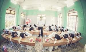 Kỷ yếu leo rào, ngủ gật tập thể cực nhộn của teen chuyên Sơn La