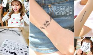 Hình dán xăm nhỏ - trào lưu gây sốt ngày hè của teen Hàn