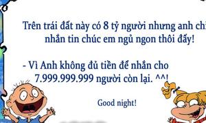 Tuyển tập tin nhắn tình yêu chúc ngủ ngon siêu hài mà không sến