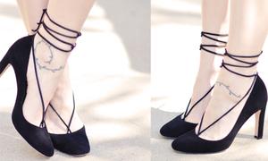 Biến đôi giầy đen đơn giản thành giày sang chảnh như xì ta