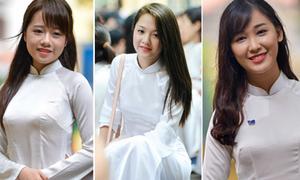 Teen girl Phan Đình Phùng xinh lung linh giữa sân trường