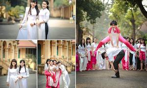 Nữ sinh Việt xinh ngất ngây trong áo dài trắng tinh khôi