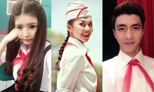 Hot teen, xì ta Việt 'cưa sừng làm ghé' với khăn quàng đỏ