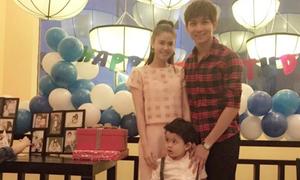 Tim - Trương Quỳnh Anh hạnh phúc tổ chức sinh nhật con trai