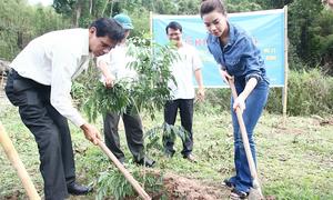 Hà Hồ về quê làm việc thiện trong 'tâm bão' dư luận