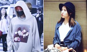 G-Dragon kín bưng bất chấp thời tiết, Hyo Min đa phong cách