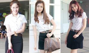 Túi, giày từ bình dân đến xa xỉ của nữ sinh Thái khi đến trường