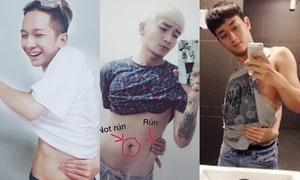 Hot boy Việt cũng 'chết mê' trào lưu chạm tay đến rốn