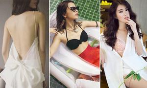 Những bộ cánh sexy bất ngờ của các hot girl 'gái ngoan'