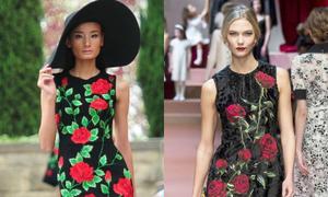 Đỗ Mạnh Cường đụng ý tưởng hoa hồng với Dolce & Gabbana