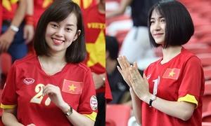 3 cô bạn gái xinh đẹp đến SEA Games cổ vũ người yêu
