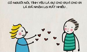 Bộ tranh ngọt ngào 'Mặc kệ người ta nói, mình yêu nhau đi'