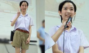 Nam sinh đẹp như con gái xôn xao mạng Thái Lan