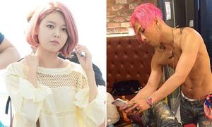 Một loạt sao Hàn chuyển tóc hồng trong đợt comeback mùa hè