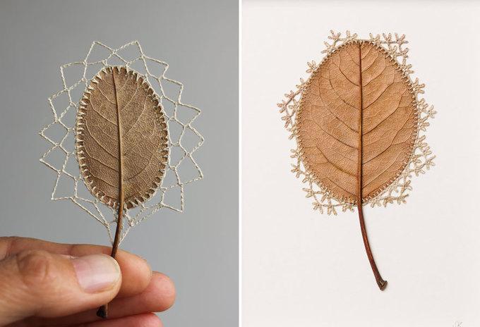 Những tuyệt tác đẹp khó tin từ chiếc lá