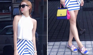 Bóc giá: Thời trang dạo phố toàn đồ xa xỉ của Minh Hằng