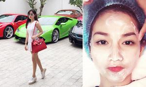 Sao Việt 24/6: Midu khoe dàn siêu xe, Quỳnh Chi làm đẹp kiểu ma cà rồng