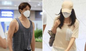 Bi Rain - Kim Tae Hee bị chê mặc xấu khi xuất hiện ở sân bay