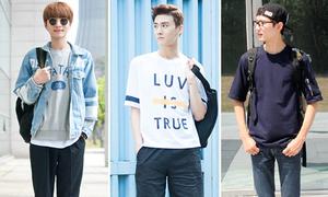 Nam sinh Hàn đẹp trai, sành điệu khi đến trường