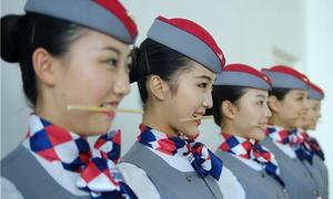 Quá trình đào tạo tiếp viên hàng không ở Trung Quốc