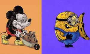 Chết cười với tuổi già nhăn nhúm của loạt nhân vật hoạt hình