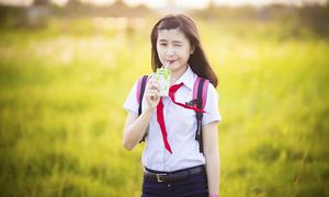 Gia Hân - nàng sinh viên đại học trẻ như học sinh cấp 2