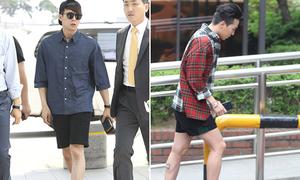 Mỹ nam Hàn chuộng mốt quần lửng, khoe chân thon