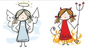 Trắc nghiệm: Bạn là thiên thần hay ác quỷ