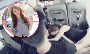 'Cô nàng bánh tráng' giải thích về tướng ngủ bá đạo trên xe