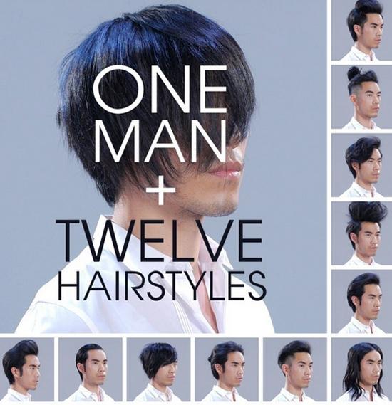 Anh chàng biến hóa khôn lường với 12 kiểu tóc