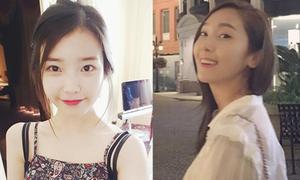 Sao Hàn 7/8: IU da trắng môi đỏ như Bạch Tuyết, Jessica cười rạng rỡ