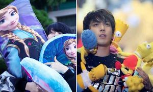 Mỹ nam Hàn phát cuồng với thú bông, nhân vật hoạt hình