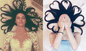 Giới trẻ đua nhau chụp ảnh tóc trái tim kiểu Kendall Jenner