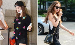 Yoon Ah chân mập hơn xưa, Na Eun khoe túi hình áo kute