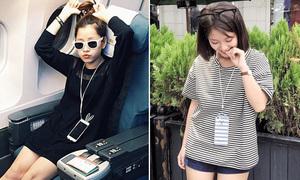 Mẫn Tiên, Chi Pu lăng xê mốt đeo điện thoại như vòng cổ