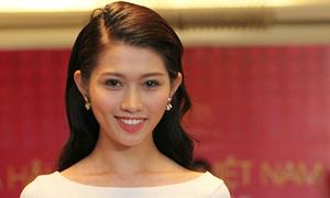 Quỳnh Châu được Quang Hùng theo sát khi thi hoa hậu