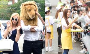 SNSD tung tăng cùng 'bạn trai sư tử', T-ara hết lòng nịnh fan