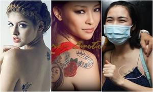 Ý nghĩa hình xăm đặc biệt của hot girl, xì ta Việt