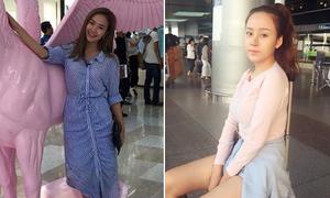 Sao Việt 25/8: Minh Hằng da đen nhẻm, Bà Tưng makeup nhẹ vẫn xinh
