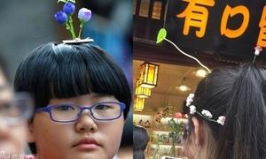 Giới trẻ Trung Quốc rộ mốt cắm 'mầm cây' trên đầu