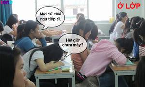 Học trò @: Khác biệt khi ở lớp - về nhà