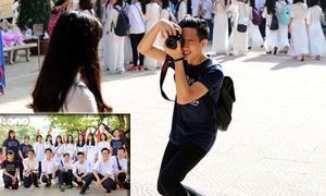 Đội 'nhiếp ảnh gia cấp 3' hùng hậu nhất ngày khai giảng