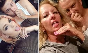 Bố mẹ hài hước bắt chước ảnh selfie của các con